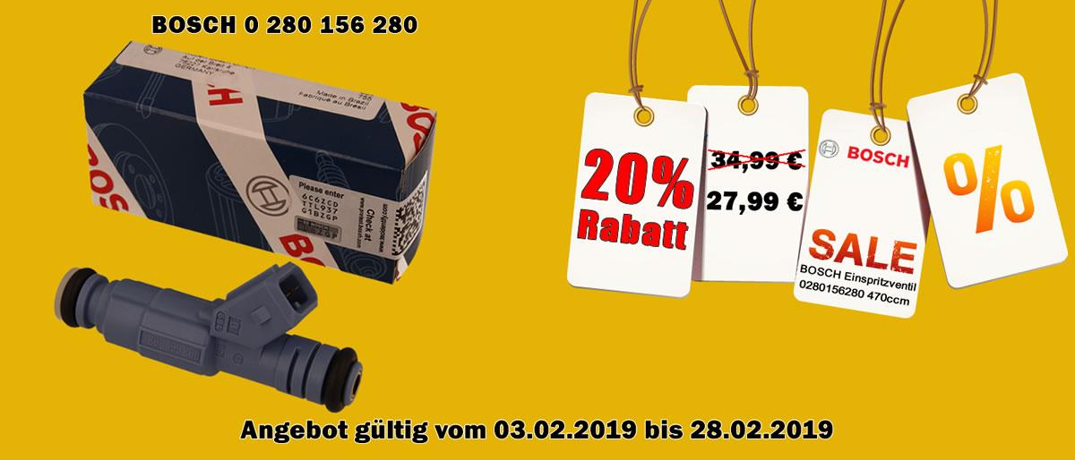 20% Rabatt BOSCH 0280156280